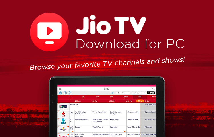 download jio tv for pc
