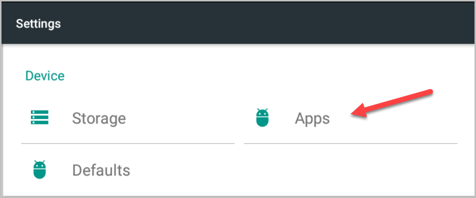 Apps button