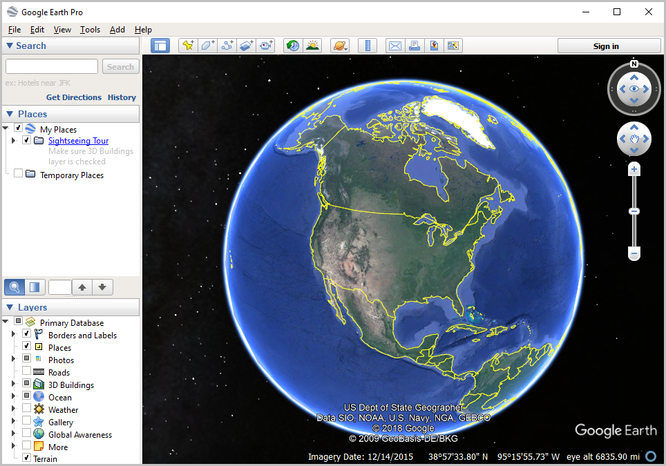 Google Earth installed
