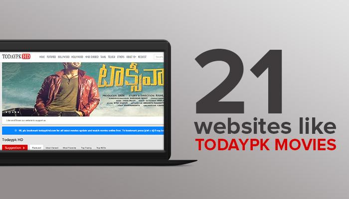 Websites Like TodayPK Movies